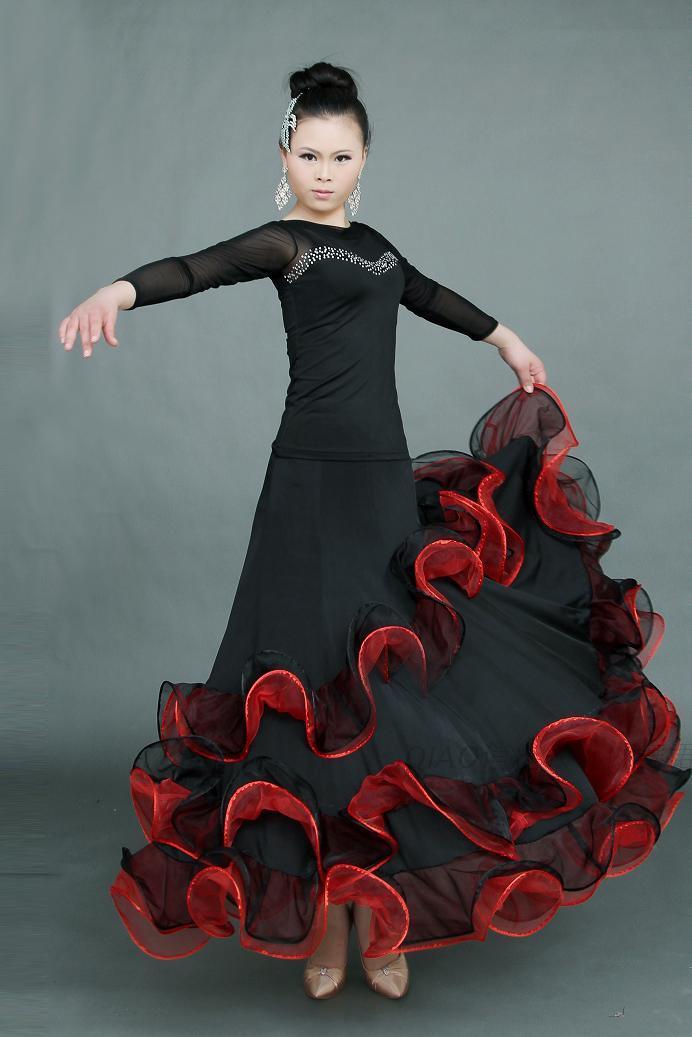 New Women/'s Tango Salsa Waltz Dance Skirts Dress Quickstep Modern Dance Ballroom