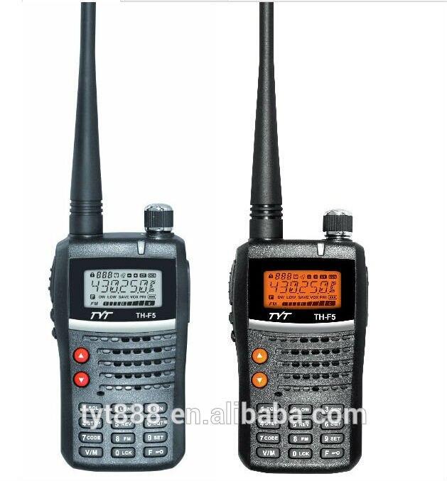 Walkie Talkie de mano UHF, VHF, Walkie Talkie de 5 vatios TYT TH-F5 Ham Radio bidireccional Controlador de red de 12 canales IO, modo esclavo maestro Modbus RTU, relé Anolog Digital, módem transceptor