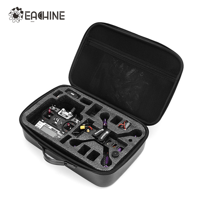 Hot Sale! Realacc PVC Handbag Backpack Bag Case Box Case with Sponge for Eachine Wizard X220S FPV RC Racing Drone Spare Parts hot sale antenna guard protection cover for eachine qx90 qx95 fpv camera