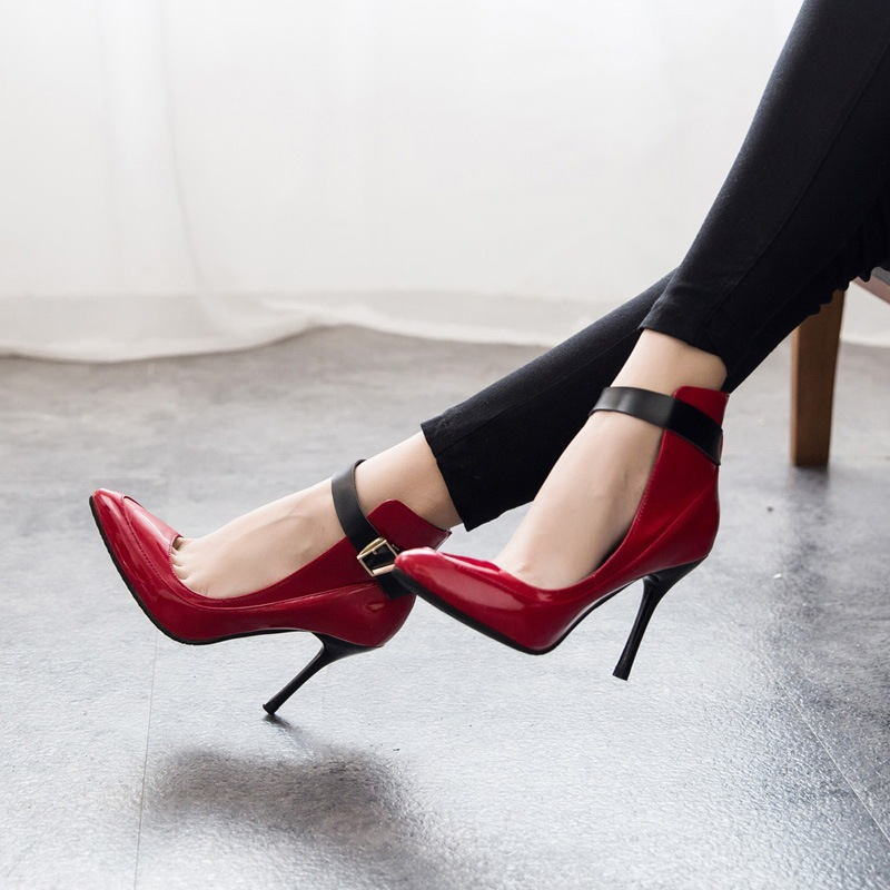 ... couleurs mode femmes pompes bas rouge bout pointu Sexy High Heels chaussures  femme 2015 chaussures b22d39d4358b