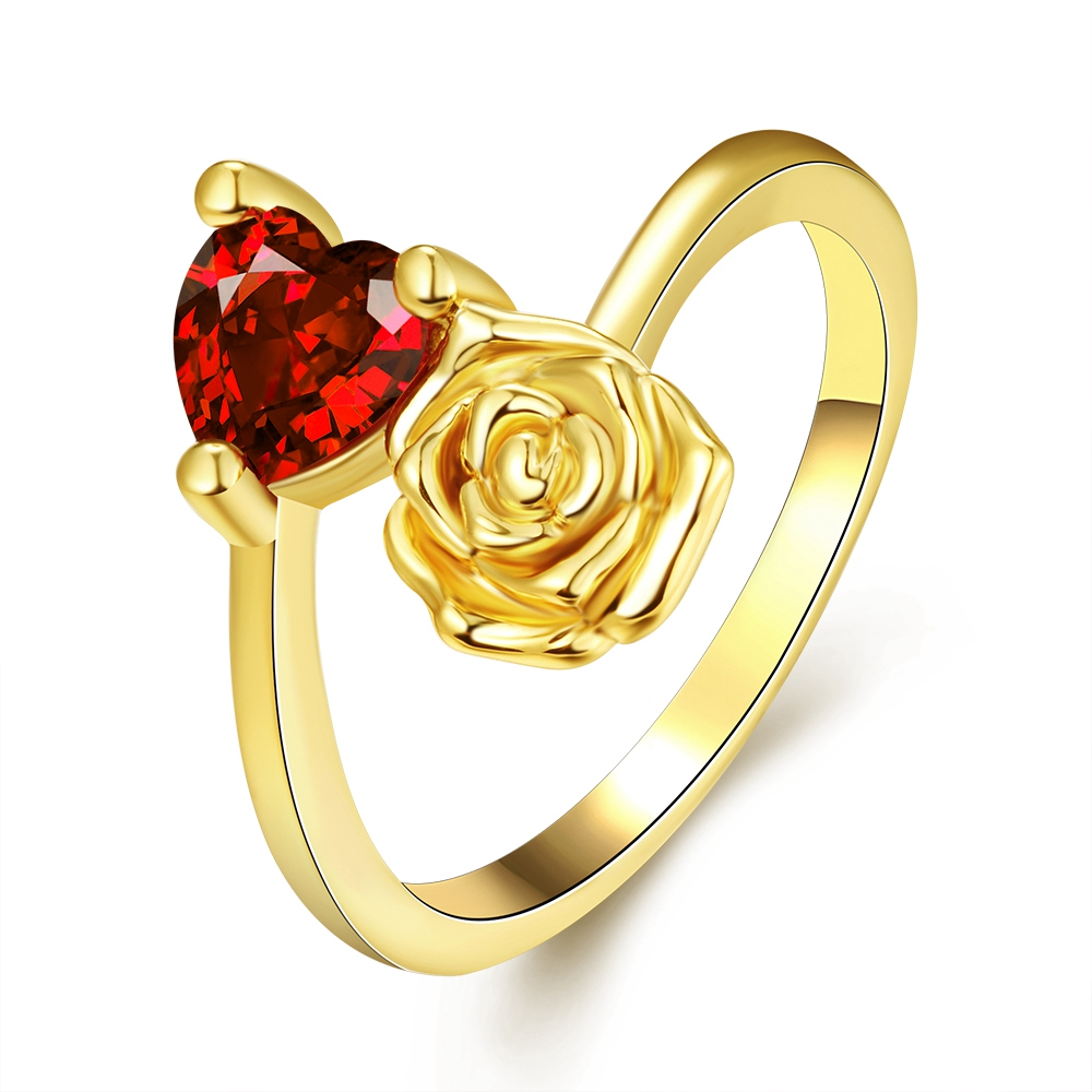 clearance sale heart jewelry rose plated plating wedding ring charm heart rose jewelry ring for ladies - Clearance Wedding Rings