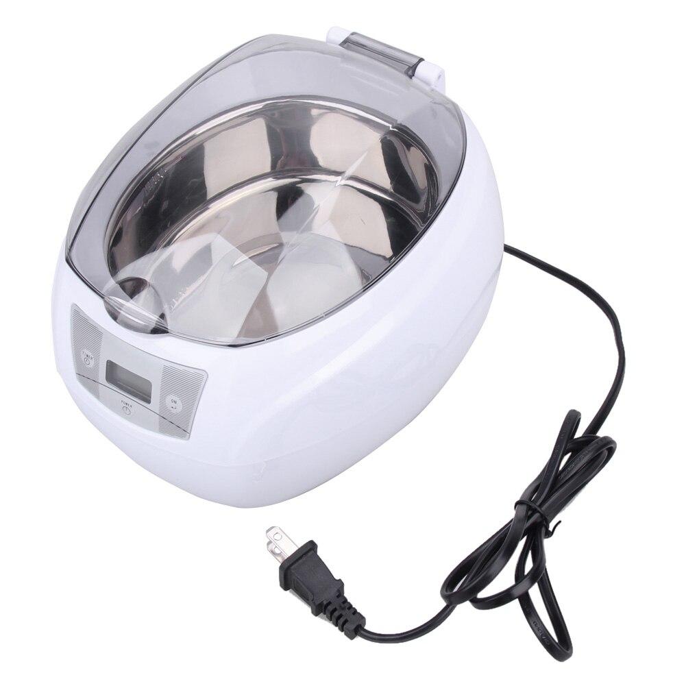 1 Pcs Ultrasonic Cleaner Jóias Relógios Anel Injector Dental Esterilizador PCB Esterilizador 750 ml EUA Plug 200X175X145mm E5M1