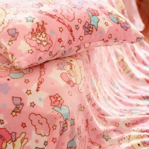 candice guo! cute plush toy cartoon little twin star sweet star unicorn pillowcase blanket girls creative birthday gift 1pc