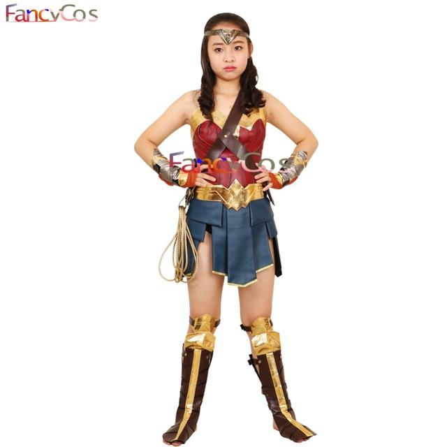 Wonder Woman Costume Halloween Justice League Princess Diana Dress