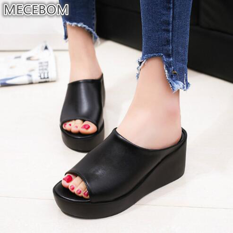 New 2018 Fashion Flip Flops Women Beach Slippers Summer Gladiator Sandals Women Casual Shoes Woman Platform flip flops 6024W summer women flip flops wedge platform thong flip flops sandals shoes beach casual slippers dropship 2018a11