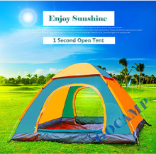Top Brand Quality double layer 3 4 person rainproof ourdoor camping tent for bivouac hiking fishing hunting adventure picnic