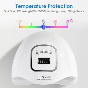 Image 4 - ROHWXY UV LED נייל מנורת מניקור 80W נייל מייבש עבור כל הציפורניים ג ל פולני קרח מנורת עם LCD תצוגה עבור מקצועי נייל אמנות כלי