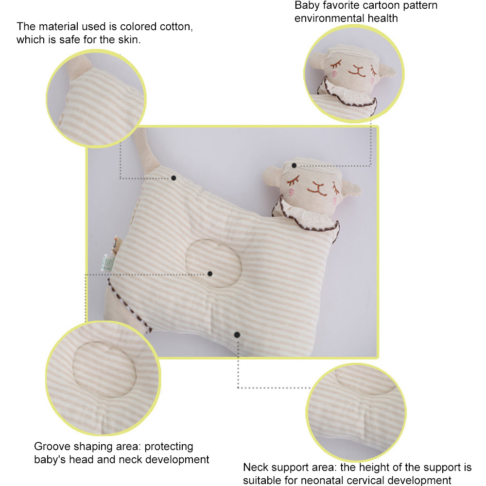 Мягкие детские форменная подушка хлопок груди Подушка для новорожденного для новорожденных Прямая