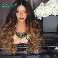 T1b/4/27 150% Density Human Hair Full Lace Wigs Ombre Color Body Wavy Brazilian Remy Hair Lace Wigs for Black Women Qear Hair