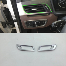 Car Accessories Interior Decoration ABS Front Side Air Vent Outlet Cover For BMW X1 2016 Car Styling цены