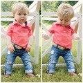 Conjuntos de Roupas de moda Bebê Menino Cavalheiro Terno Criança Set Roupas Meninos Crianças Manga Curta Conjunto de Roupas Menino