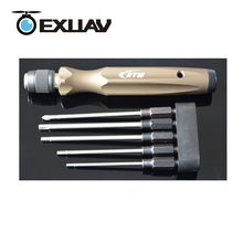 RTW EXUAV Hexagon Chave De Fenda Tool Kit M1.5/2/2.5/3mm/PH1 5 Combinação Para FPV corridas de Drone Peças/Acessórios Modelo RC Ferramenta
