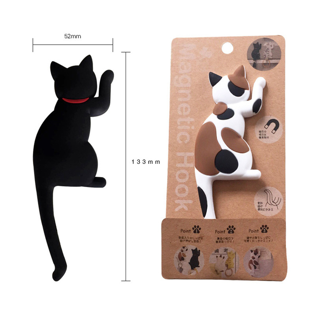 Cute Cartoon Cat Seamless hook up material fridge magnets whiteboard sticker Refrigerator Magnets Kids gift Home Decoration 6