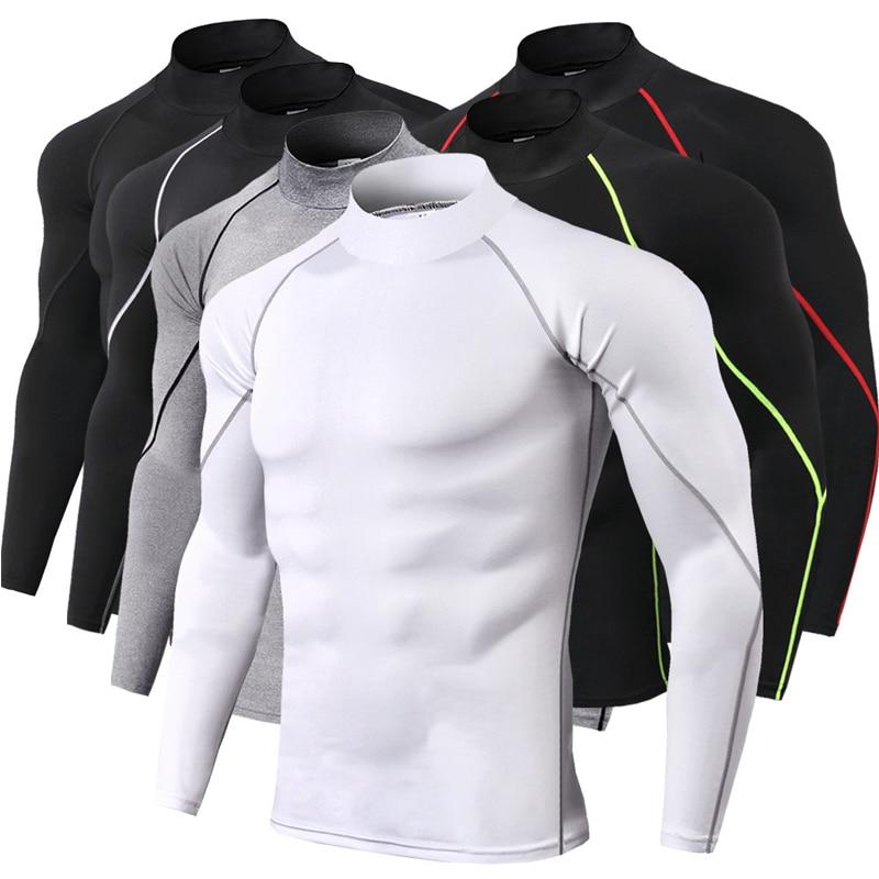 Running Sport Shirt Dry Fit T Shirt Men Long Sleeve Compression Top Rashgard MMA Male Gym Crossfit Training Tee Shirt