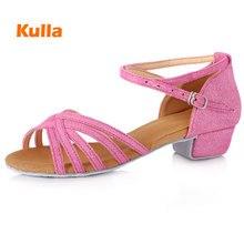 New Children's Latin Dance Shoes For Girls Women's Salsa Tango Ballroom Dancing Shoes Soft Bottom 9 Color Low Heel 3.5 cm  Shoes