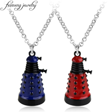 feimeng jewelry Doctor Who Necklace Time Lord Dr. Mysterious Dalek Alien Robot Villain Pendant Necklace For Men Fashion Gifts
