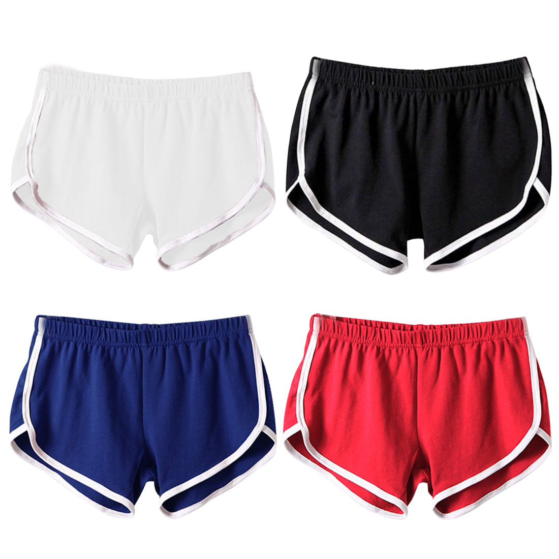 Women's Fashion Sports Running Sports And Leisure Fitness Stretch Shorts