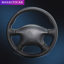 Car Braid On The Steering Wheel Cover for Nissan Almera N16 Pathfinder Primera Paladin X-Trail Renault Samsung SM3 Old XTrail