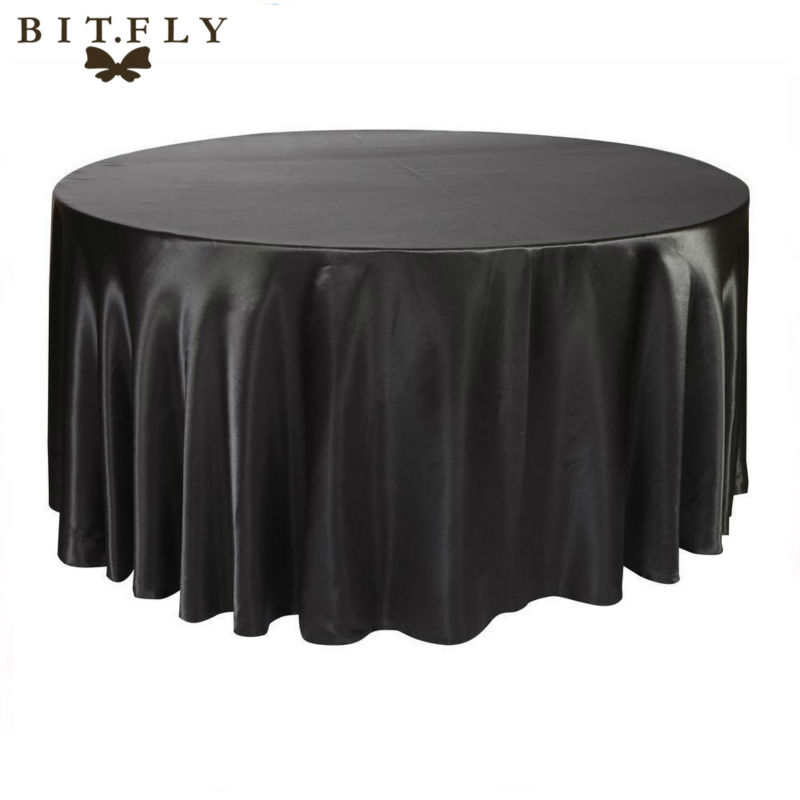 Bitfly 10 pack 120 inch round satin tablecloth white for 120 inch round table linens