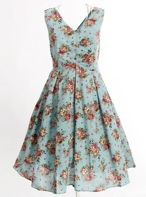 909a7c7adba59 Vestidos de Estilo Vintage retro diseño indie marca mujer floral impresión  algodón Boho bohemio vestido de