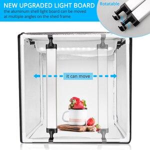Image 4 - capsaver M40II Portable Photo Studio LED Light Box 40cm Folding Lightbox Photo Light Tent Softbox Kit for Jewelry Toy Shooting