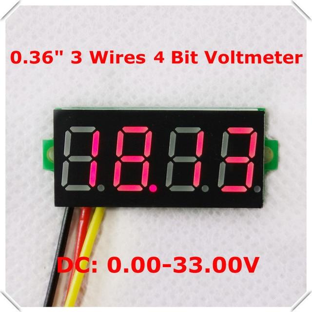mini 4 bit 0 36 digital voltmeter 0 33v three wires voltage panel rh aliexpress com Sunpro Voltmeter Wiring -Diagram Ammeter Gauge Wiring Diagram