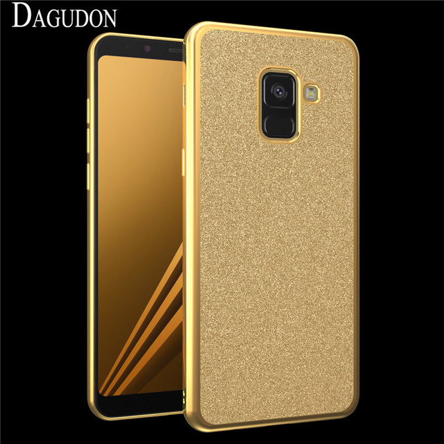 b835786cf43258 DAGUDON Luxury Bling Case For Samsung Galaxy A8 2018 Shiny Cover Soft Coque  Fundas For Samsung A8 2018 Gold Plating Glitter Case