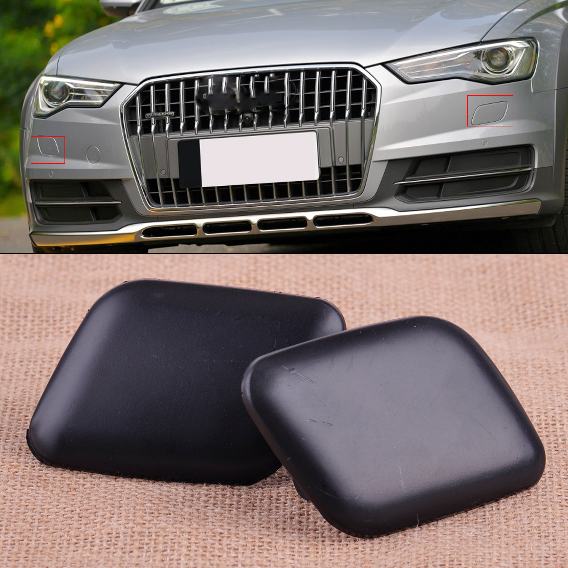 Headlight Washer Covers Caps PAIR fits 2006-2008 AUDI A4 S4
