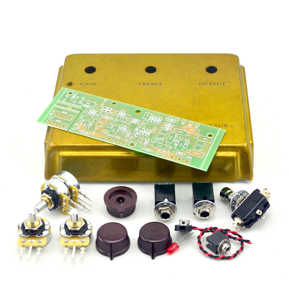 New Klon Centaur Overdrive Pedal Kits Project Gold Box Enclosure Fuzz By All Fet This Is A Great Replica Of The Legendary Down To Graphic And Styling Knobs Original Specs Based Op Amps