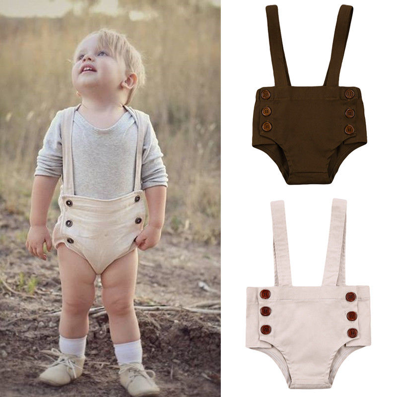 Cute Baby Boy Girls Bib Pants 2018 New Bebes Casual Bottoms Overalls Trousers Hot Cute Short Bib Pants Trousers For Boys Girls