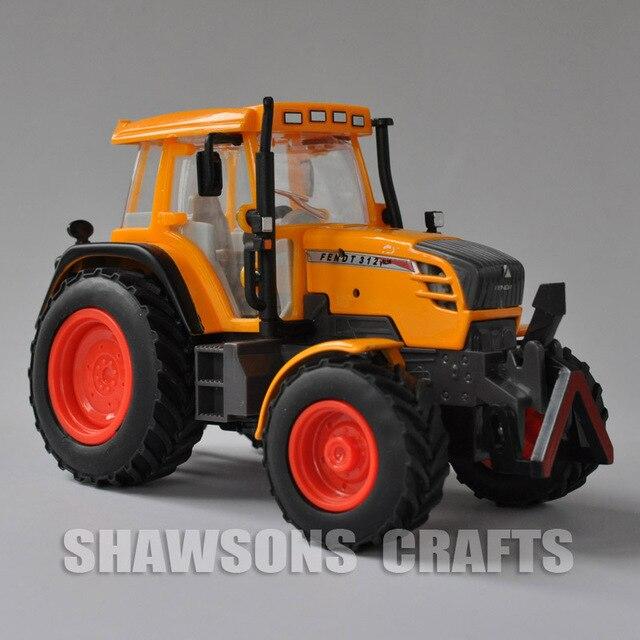 1:32 Diecast Model Truk Mainan Fendt Vario 312 Traktor Petani Replika dengan Suara