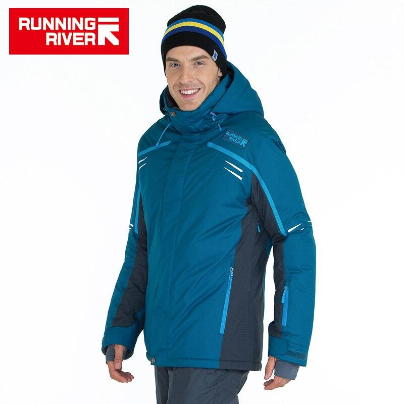 FIUME che scorre di Marca di Alta Qualità Giacca Da Sci Da Uomo 3 Colori 6 Formati di Inverno Caldo All'aperto Giubbotti Per Uomo Abbigliamento Sportivo # A6005