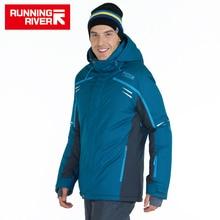 Running river 브랜드 고품질 남성 스키 재킷 3 색 6 크기 겨울 따뜻한 야외 재킷 남자 스포츠 의류 # a6005