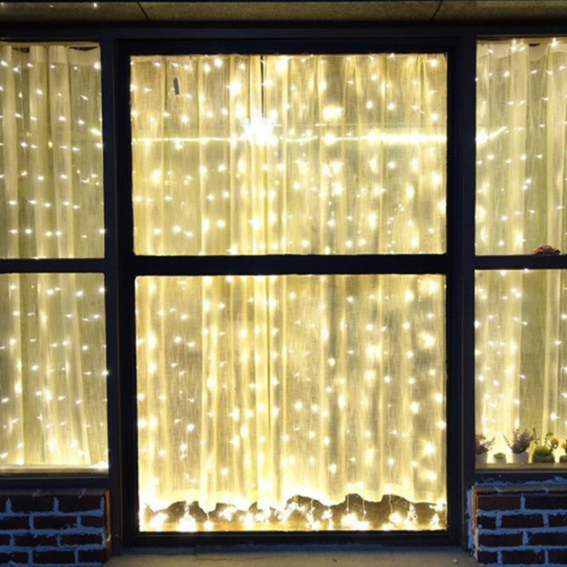 Fairy Icicle Lights Strip Curtain String Light LED Indoor Outdoor Festival Birthday Wedding Party Garden Decoration String Light ...