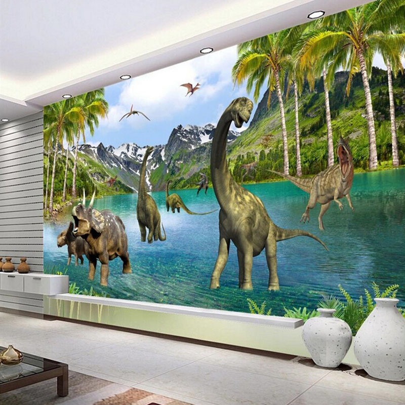 Custom Photo Wallpaper 3D Stereo Animal Dinosaurs Non-woven Wall Painting Living Room Sofa Bedroom Large Wall Murals Wallpaper book knowledge power channel creative 3d large mural wallpaper 3d bedroom living room tv backdrop painting wallpaper