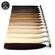 Фея remy волосы 0,8 г/локон 18 дюймов Remy микро бусины человеческие волосы для наращивания Европейский темно-коричневый блонд пианино нано-Кольца для волос 50 шт