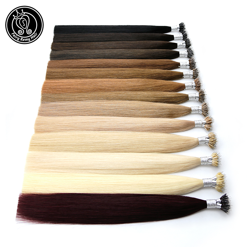 Fairy Remy Hair 0.8g/s 18 Inch Remy Micro Beads Human Hair Extensions European Dark Brown Blonde Piano Nano Ring Hair 50pcs