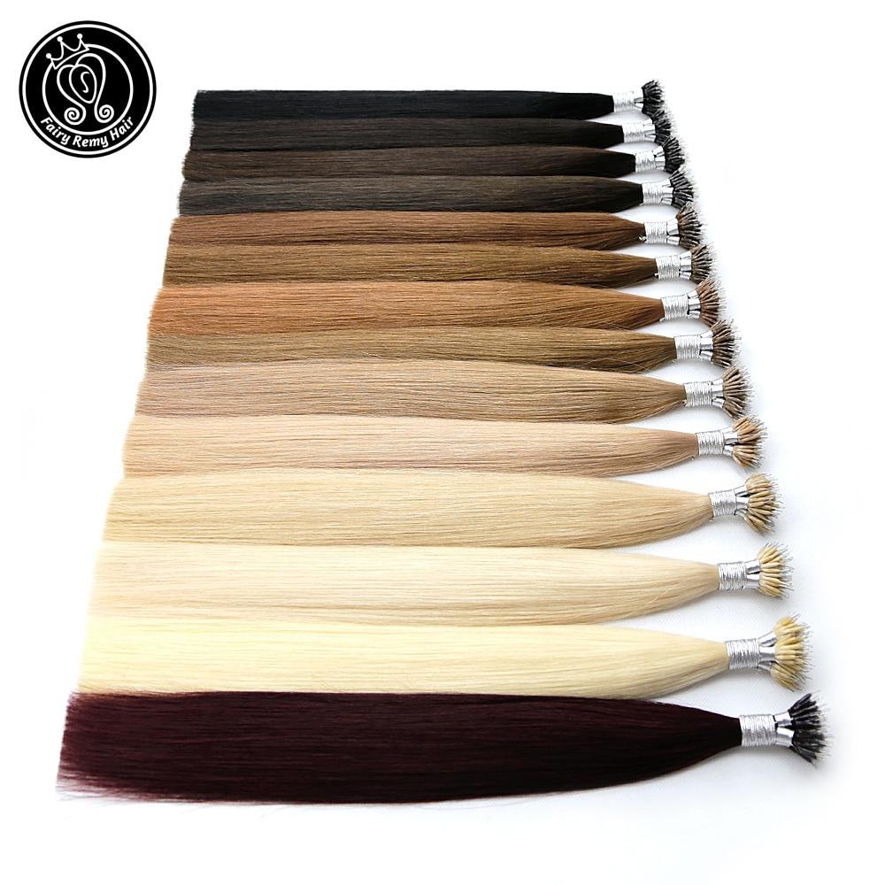 Fairy Remy Hair 0.8g/s 18 Inch Remy Micro Beads Human Hair Extensions European Dark Brown Blonde Piano Nano Ring Hair 50pcs