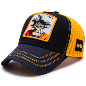 Image 4 - 2019Newファッションドラゴンボール野球キャップ男性通気性メッシュスナップバックキャップ太陽の帽子骨キャスケットヒップホップキャップお父さん帽子