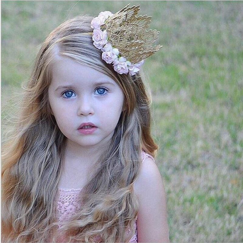 Toddler Flower Crown Tiaras hairband Baby Crown Headbands newborn photo  props girls Birthday hair accessories gift e1a8a408eba