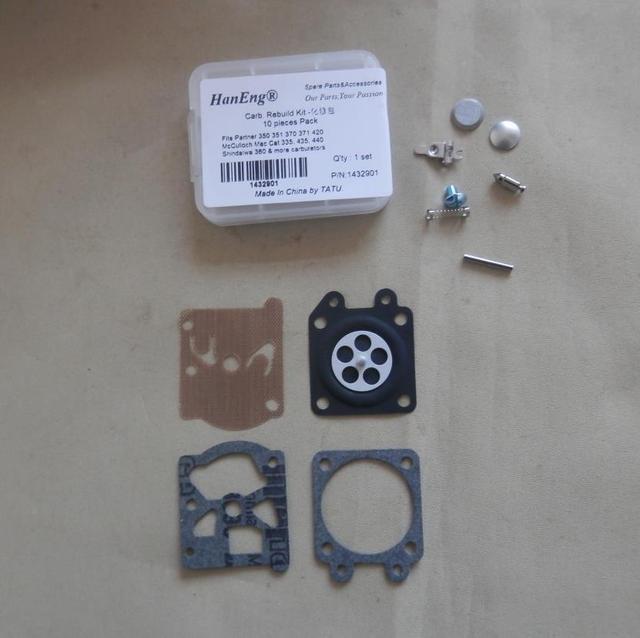 335 Carb Repair Kit Fits Mcculloch Mac Cat 435 440 Chainsaw Carburetor Diaphragm Gasket Spring