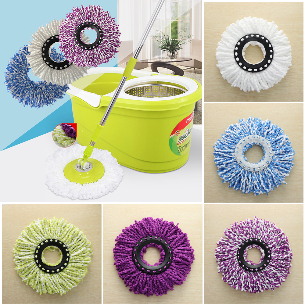 Transer 360 Rotating replacement mop head Easy Magic Microfiber Spin Mop Head White