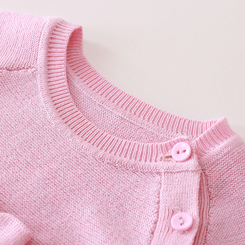 4a6fed94a Auro Mesa Mercerized cotton Baby Girls Knit Romper Solid bowknot ...