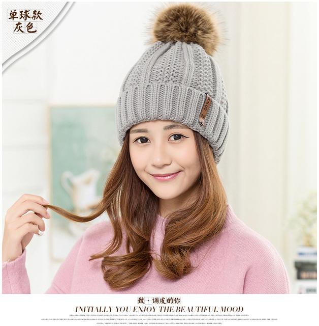 Sombrero de invierno mujeres niñas precioso gorro de lana Coreana marea otoño ocasional del todo-fósforo casquillo caliente