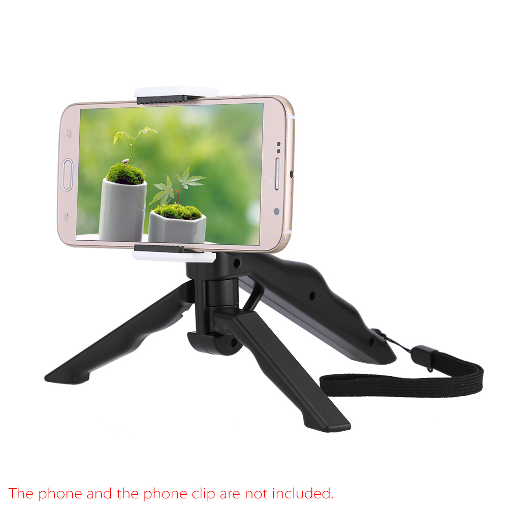 Handheld Grip For Gopro Hero 4/3+/3/2/1 Dc Dslr Slr Camera Live Tripods Andoer 2in1 Mini Portable Folding Table-top Tripod Stand Live Equipment