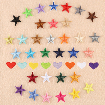 1pcs mix Star Patch for Clothing Iron on Embroidered Sew Applique Cute Patch Fabric Badge Garment DI
