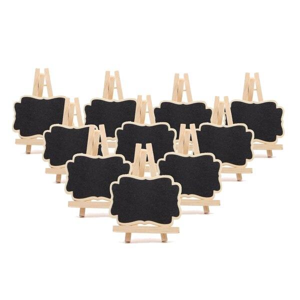 De Goedkoopste Prijs 10 Pcs Mini Houten Schoolbord Bericht Schoolbord Tafel Nummer Wedding Party Decor 7*9*1.2 Cm Non-Strijkservice