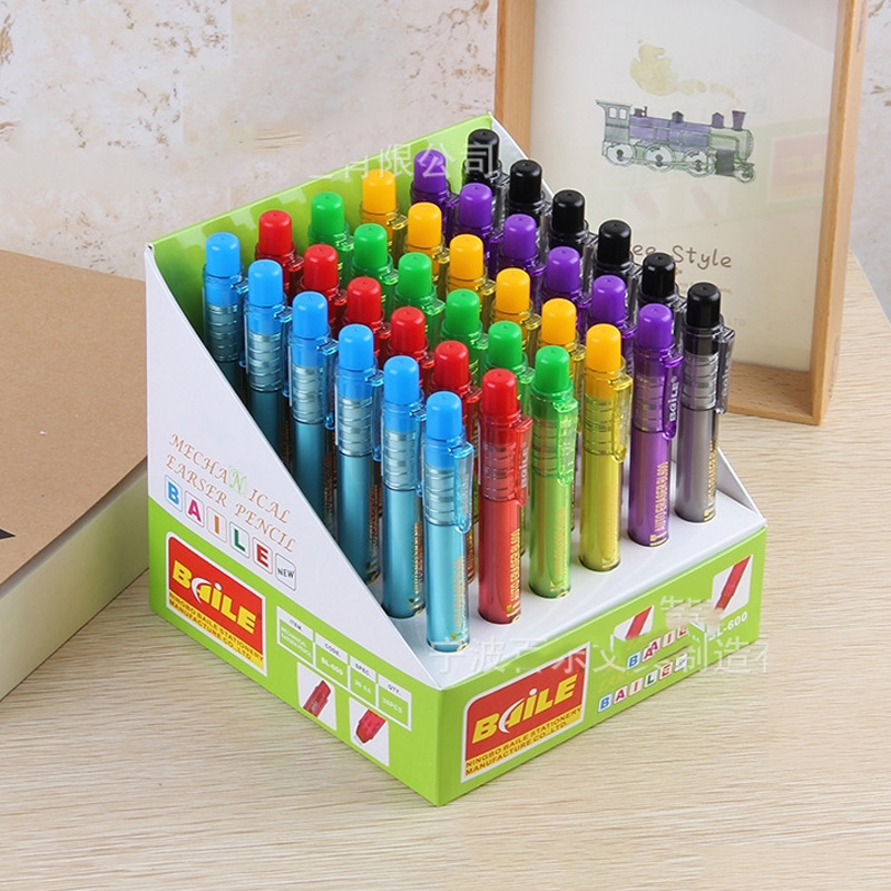 Candy Color Automatic Erasers Pen Press Pencil Rubber For Pencils Correction Tools Art Drawing Sketch Supplies Office School