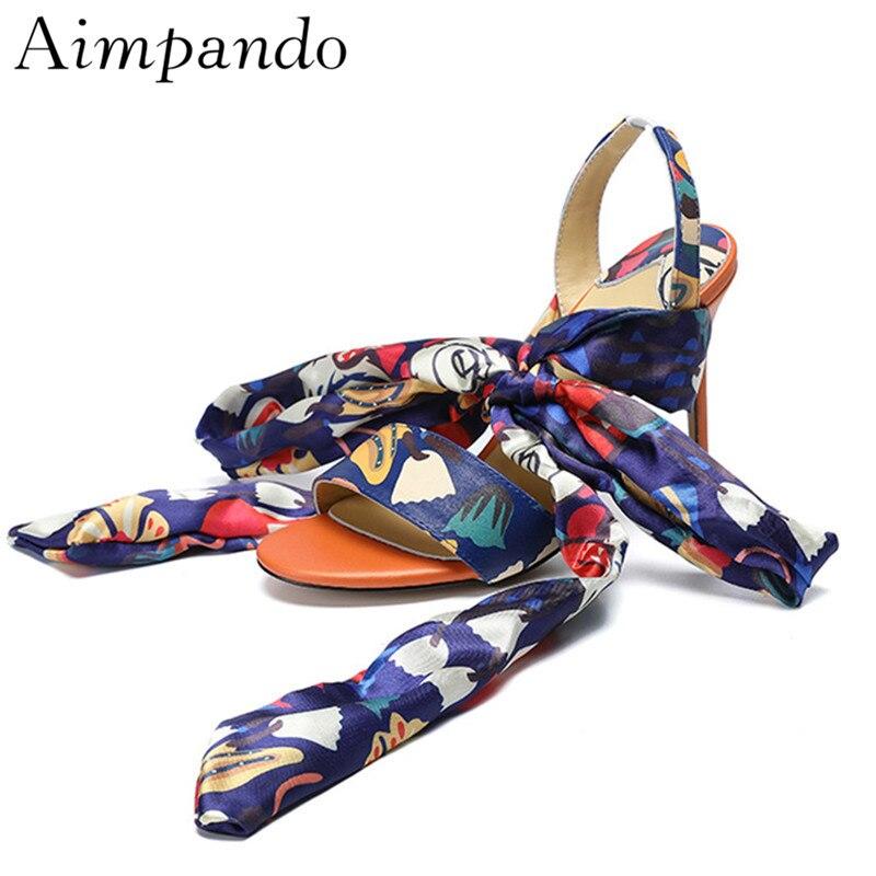Sandalias De nudo Verano Tacones Abierta Finos Mujer Mujeres Punta Las Zapatos Tobillo Colorful Individuales Color Mariposa Mezclado 41qwOO