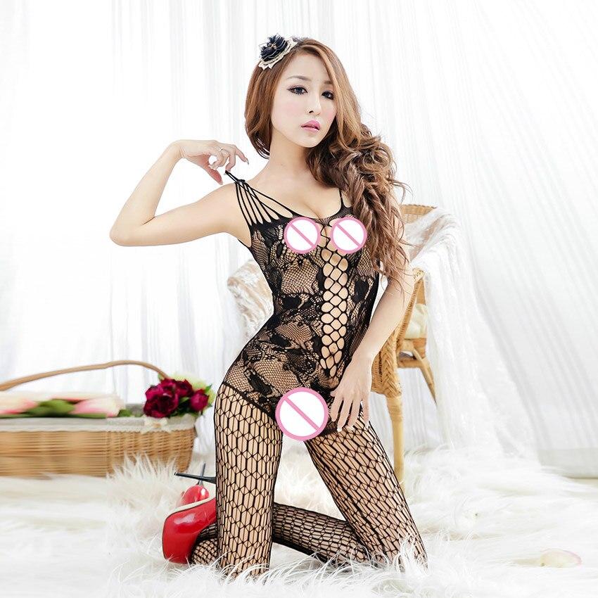 Hot Sexy Lingerie Soft Temptation Perspective Transparent Hollow Out Mesh Cloth Lingerie Costume Women Sex Products